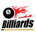 Symbole de billards Photos stock