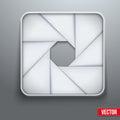 Symbole objectif de photographie d ic ne d ouverture d appareil photo Photographie stock libre de droits