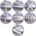 Symboles d'argent des maths 3d Photo stock