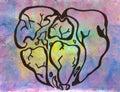 Symbolic heart of the world