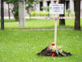 Symbolic refugee grave one of the many memorial sites that appeared in germany on june the th copy space to the left Royalty Free Stock Photos