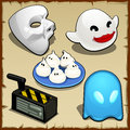 Symbolic set of different ghosts, five items