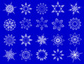 Symbolic snowflakes. Stock Photography