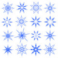 Symbolic snowflakes. Royalty Free Stock Photos