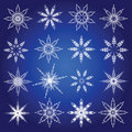Symbolic snowflakes. Stock Photo