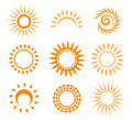 Symbolic sun set vector illustration Royalty Free Stock Photography