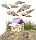 Symbolical house. Stock Photos