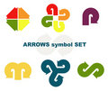 Symbols with arrows. Royalty Free Stock Images