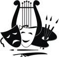 Symbols Of Arts, Music. And Th...