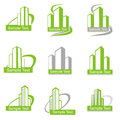 Symbols of buildings for design Stock Image