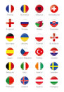 Symbols Buttons of the participating countries to the final soccer tournament of Euro 2016 in france Royalty Free Stock Photo