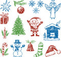 Symbols of christmas vector image a various Stock Photos