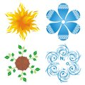 Symbols of four elements Royalty Free Stock Photography