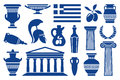 Symbols of Greece Stock Photography