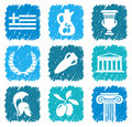 Symbols of Greece Royalty Free Stock Photography