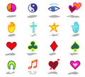 Symbols icons set 2 Stock Photography