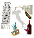Symbols of Italy Stock Photos