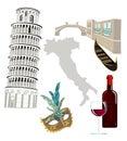 Symbols of Italy Royalty Free Stock Photo