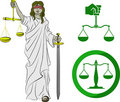 Symbols of Justice Stock Image