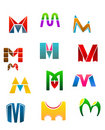 Symbols of letter M Stock Images