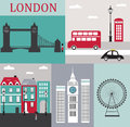 Symbols london vector illustration Stock Image