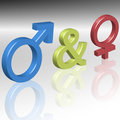 Symbols of male and female Stock Image