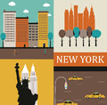 Symbols new york vector Stock Photo