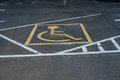 Symbols parking for the disabled. Royalty Free Stock Photo