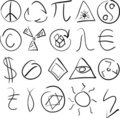 Symbols set Stock Image