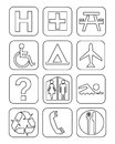 Symbols a set of twelve signs Stock Images