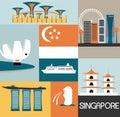 Symbols of singapore vector illustration Stock Photo