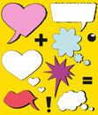Symbols speech bubbles (comic speech bubbles) Royalty Free Stock Images