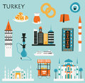 Symbols of Turkey. Royalty Free Stock Photo