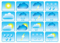 Symbols for weather. Royalty Free Stock Photos