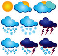 Symbols for weather forecasters Stock Photography