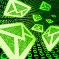 Symbool van de e-maile-mail het digitale post spam binaire code Royalty-vrije Stock Fotografie