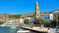 Symi, Greece - October 4, 2014-The Monastery of the Archangel Mi