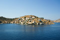 Symi village on island of Symi Stock Image