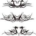 Symmetric animal vignettes vector set Royalty Free Stock Photos