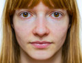 Symmetric face of teenage girl Royalty Free Stock Photo
