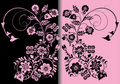 Symmetric pink and black color ornament Royalty Free Stock Photo
