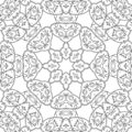 Symmetric tracery for coloring. Coloring page for kids and adults.