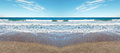 Symmetrical beach Stock Photography