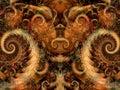 Symmetrical Fantasy Texture Royalty Free Stock Photo