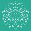 Symmetrical floral design a custom made vector illustration Royalty Free Stock Photo