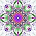Symmetrical Fractal Pattern Wi...