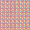 A symmetrical yellow and blue sparkles pattern