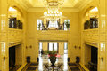 The lobby of the hotel Royalty Free Stock Photo