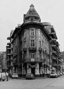 Symmetry old historic building in bucharest romania Stock Photography