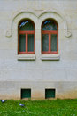 Symmetry windows art deco architecture of vichy in france Stock Photos